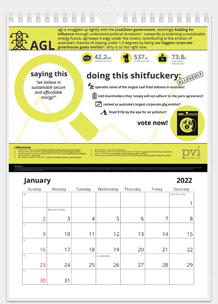 artwash awards: corporate sh*tf@ckery 2022 calendar